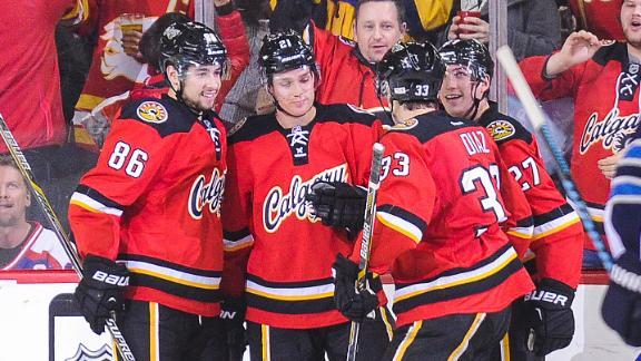 Video - Flames Coast Past Jets