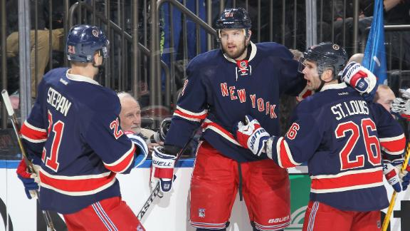Video - Nash Scores In Rangers Win