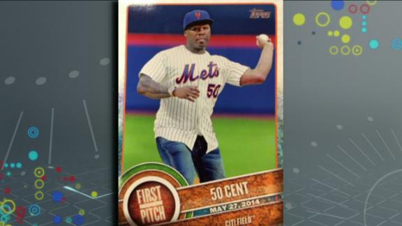 Video - 50 Cent Gets Baseball Card For Awful First Pitch