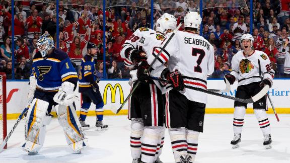 Video - Blackhawks Pull Away From Blues