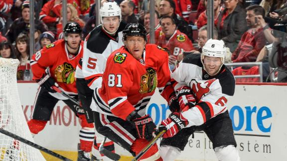 Video - Hossa Leads Blackhawks Past Devils