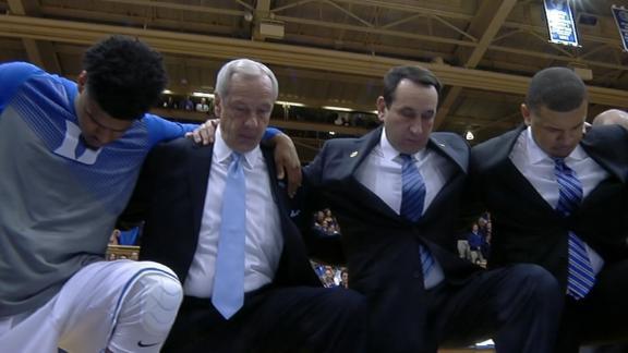 Duke Holds Joint Tribute For Dean Smith