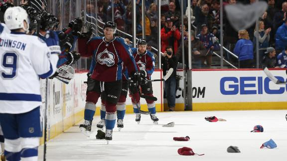 Video - MacKinnon's Hat Trick Carries Avs