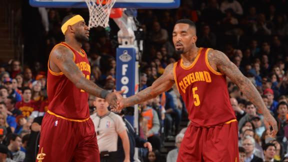 Video - LeBron, J.R. Smith Punish Knicks