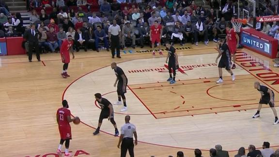 Video - Harden Sends Rubio To The Floor