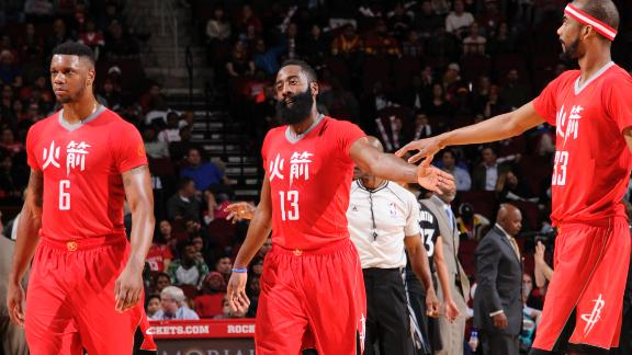 Video - Harden Leads Rockets Past Wolves
