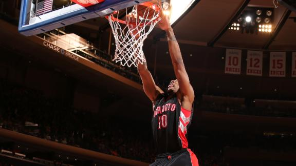 Video - DeRozan Misfires 360 Slam