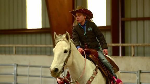 9-Year-Old Barrel Racing Phenom Chayni Chamberlain