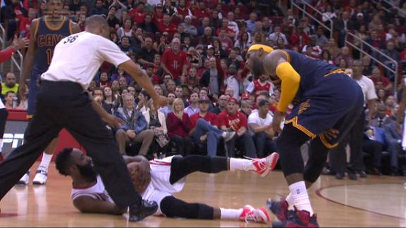 Harden Kicks LeBron Below The Belt