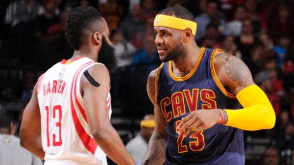 Video - LeBron Disappoints, Harden Impresses