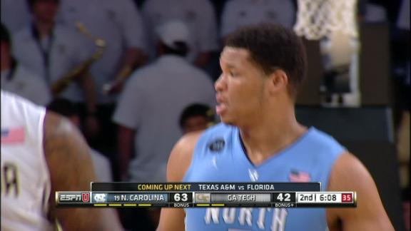 2H  6 14  UNC Kennedy Meeks made Dunk  Assisted by Marcus Paige Kennedy Meeks Dunk