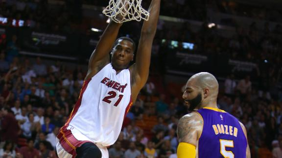Video - Whiteside Lifts Heat Past Lakers