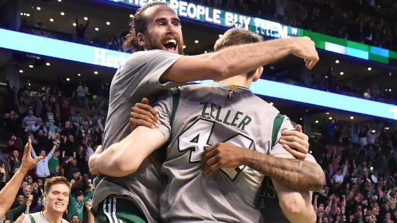 Video - Zeller Lifts Celtics Past Jazz