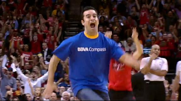 Video - Rockets Fan Cashes In On Half-Court Shot