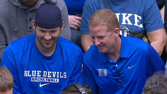 Romo, Garrett Attend Duke Game