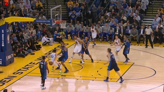 Video - Curry Flicks A Trick Pass To Barnes