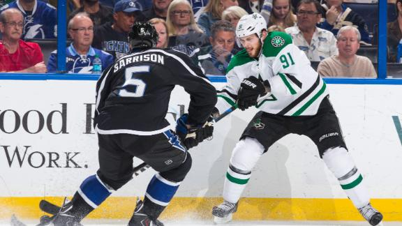 Video - Seguin Scores Twice In Return, Stars Fall To Lightning
