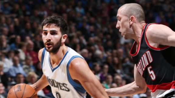 Video - Rubio Leads Wolves Past Blazers