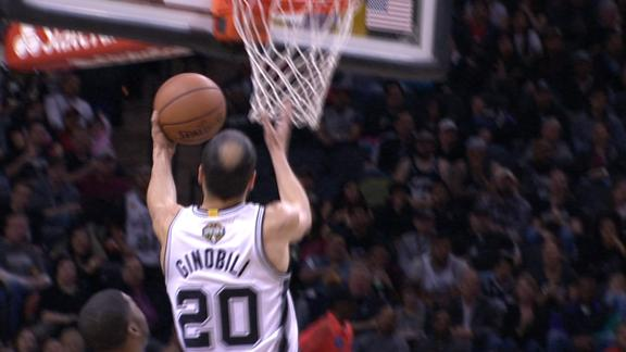 Video - Ginobili Goes Behind The Back