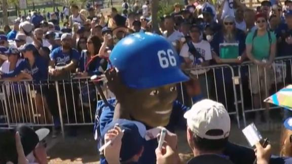 Video - Yasiel Puig Puts On A Big Head