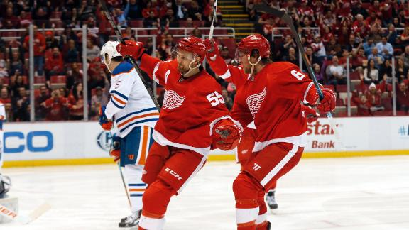 Video - Pulkkinen, Red Wings Down Oilers