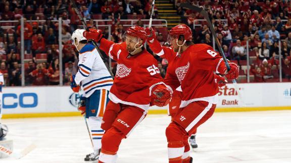 Video - Pulkkinen, Red Wings Down Oilers