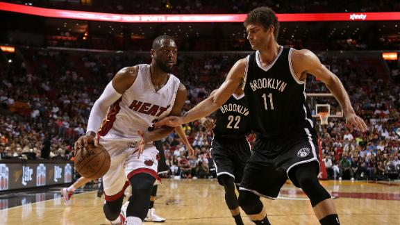 Video - Wade Powers Heat Past Nets