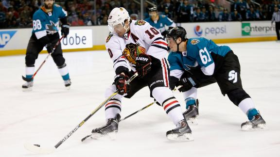 Video - Sharp Scores Twice In Blackhawks' Win