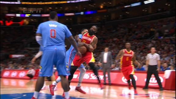 Video - Barnes Gets Flagrant For Throwing Down Harden