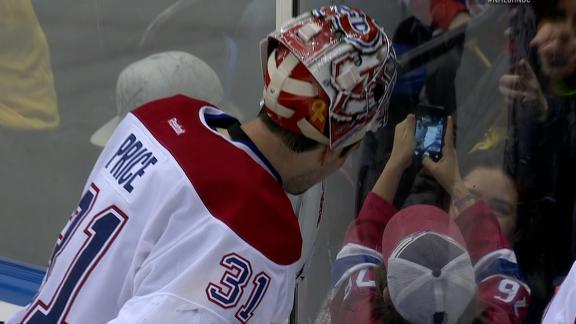 Price Poses For Selfie With Fan