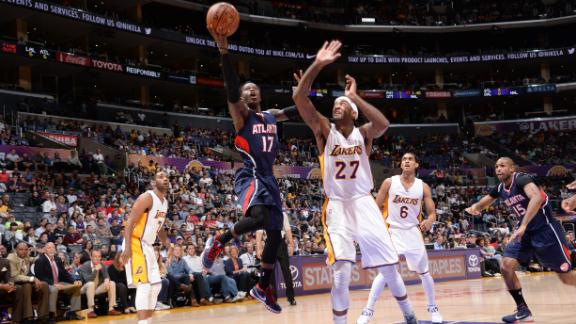 Video - Shorthanded Hawks Hold Off Lakers