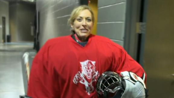 Video - Linda Cohn Tries Out For Florida Panthers