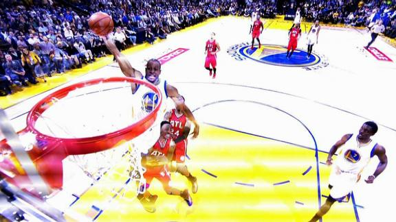 Video - Iguodala Slams A One-Hand Dunk