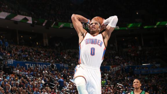 Video - Westbrook, Thunder Snap Celtics' Streak