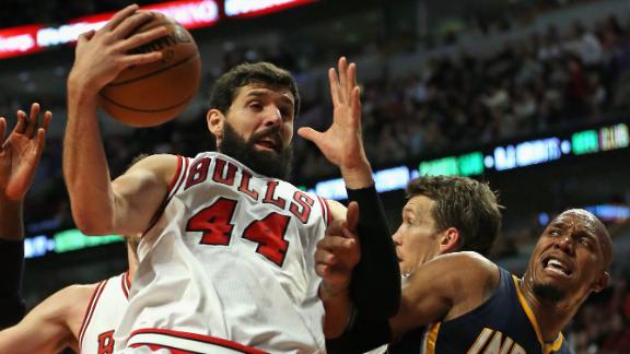 Video - Bull Charge Past Pacers