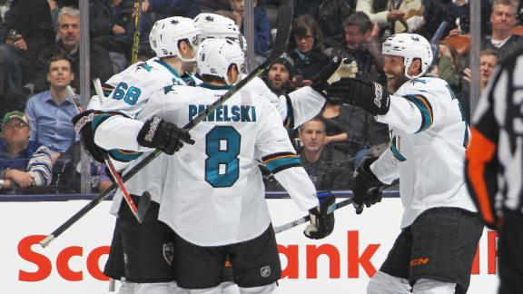 Video - Sharks Skate Past Maple Leafs