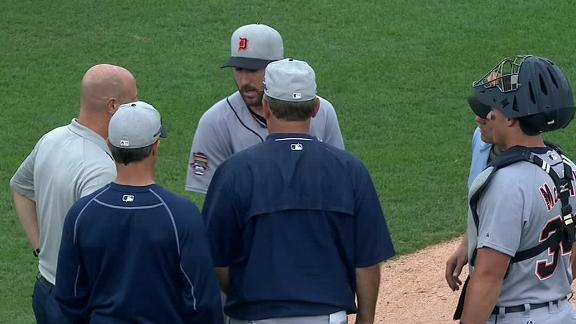 Verlander Leaves Game With Triceps Cramp