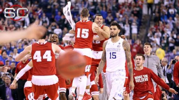 Wisconsin hands Kentucky first loss