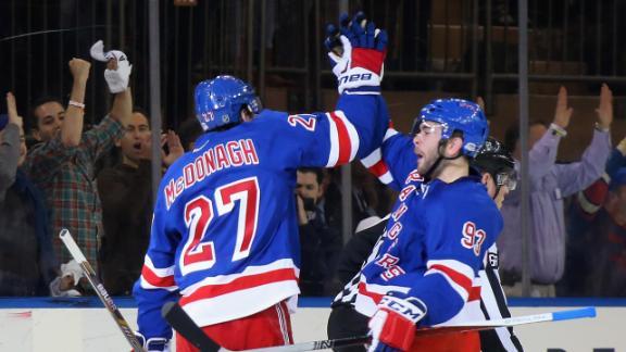 Rangers use quick start to put away Penguins