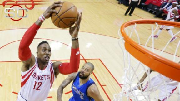Harden, Rockets soar past Mavs in Game 1