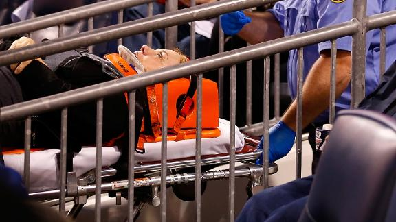 Fan injured after being struck in head by baseball
