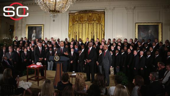 Buckeyes visit White House