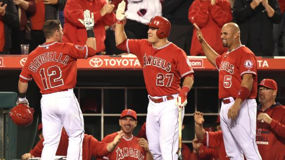 Angels crush Athletics