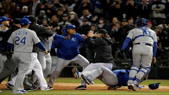 Brawl erupts in Royals win over White Sox
