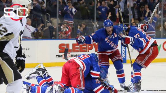 Rangers put away Penguins in OT to win series