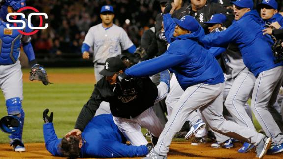 Seven players disciplined for Royals-White Sox brawl