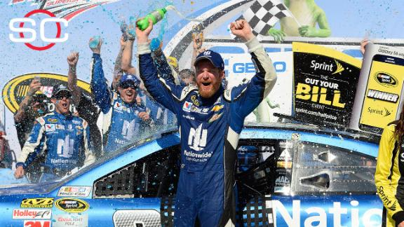 Earnhardt Jr. wins at Talladega