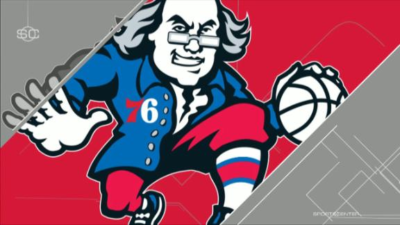 Stephen A. tees off on 76ers logo