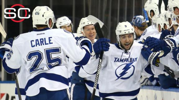 Johnson lifts Lightning to Game 2 win