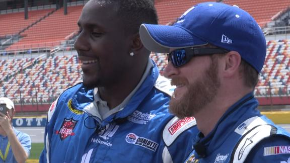 Davis hits the track with Earnhardt Jr.